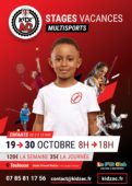 Affiche stages vacances octobre 2020 KidZ'Ac Toulouse