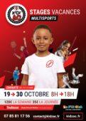 Affiche stages vacances octobre 2020 KidZ'Ac Toulouse